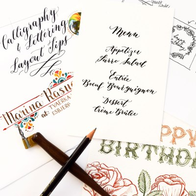 Calligraphy and Lettering Layout Tips