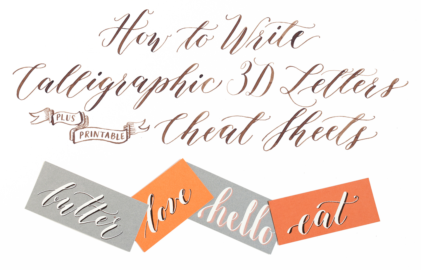 How To Write Calligraphic 3d Letters Printable Cheat