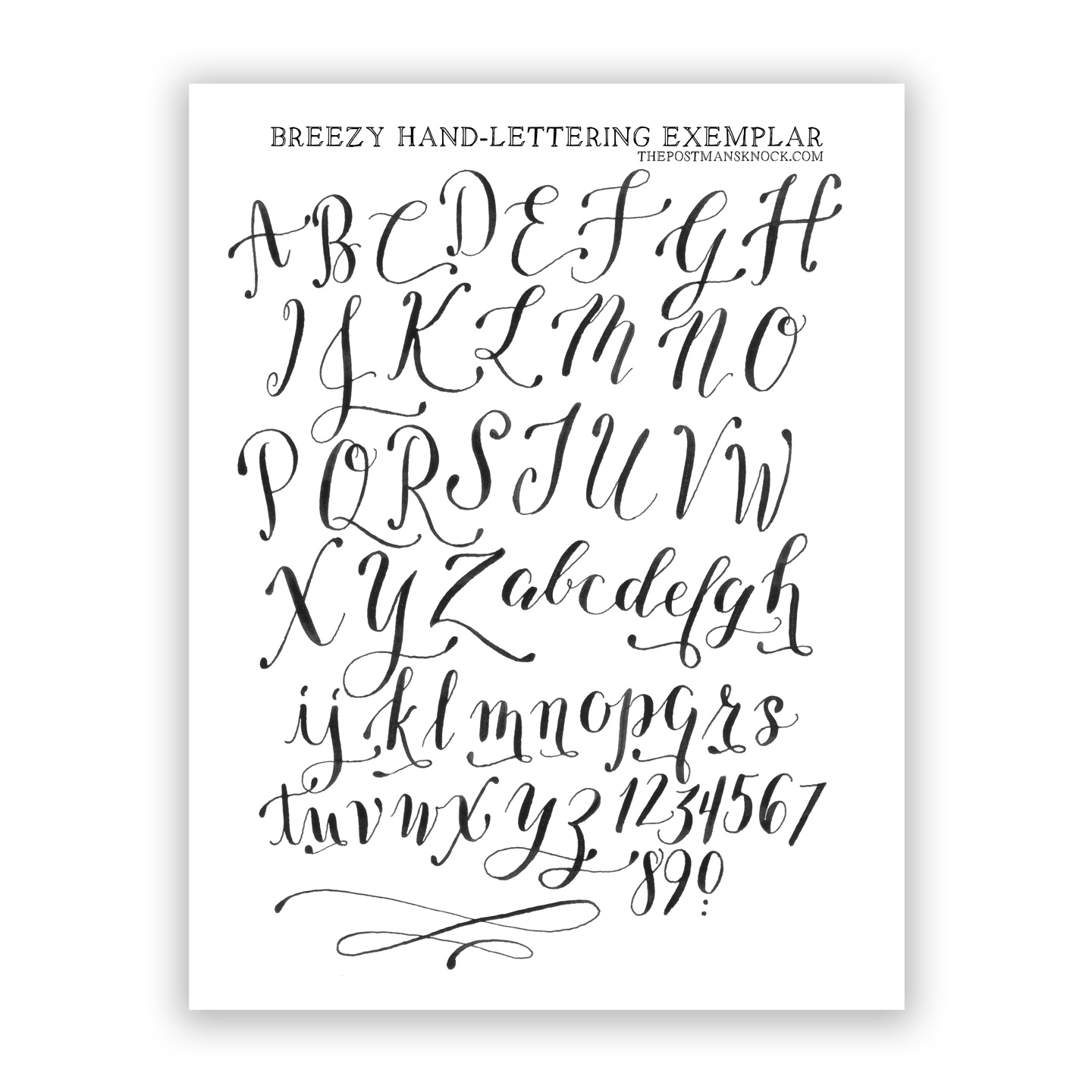 Printables. Free Calligraphy Worksheets. Mywcct Thousands