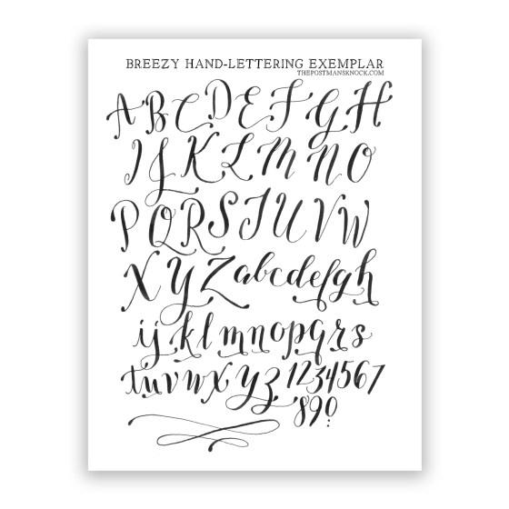 Free Printable Breezy Hand-Lettering Exemplar | The Postman's Knock