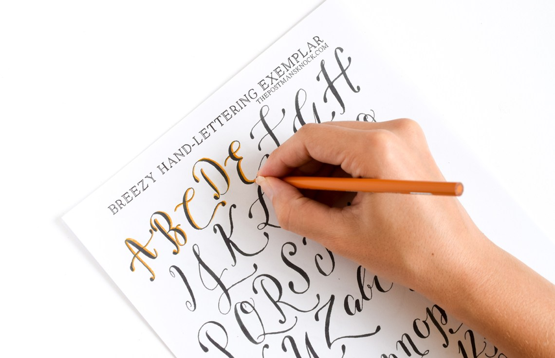how to write calligraphic 3d letters printable cheat sheets the postmans knock