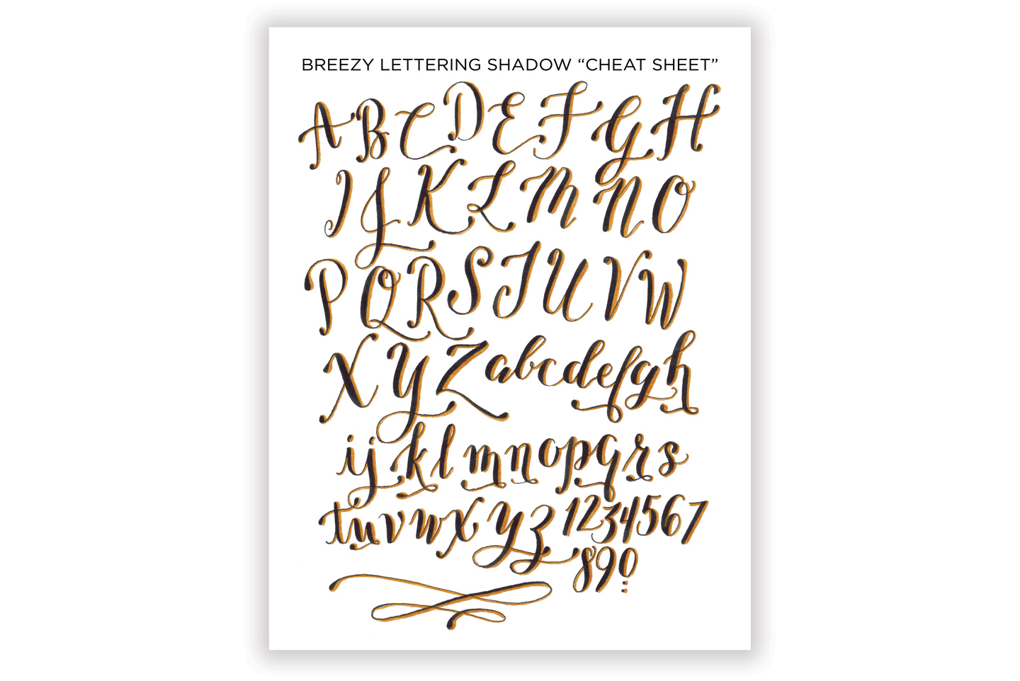 """How to Write Calligraphic 3D Letters + Printable """"Cheat Sheets"""" 