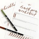 Free Brush Pen Calligraphy Worksheet | The Postman's Knock