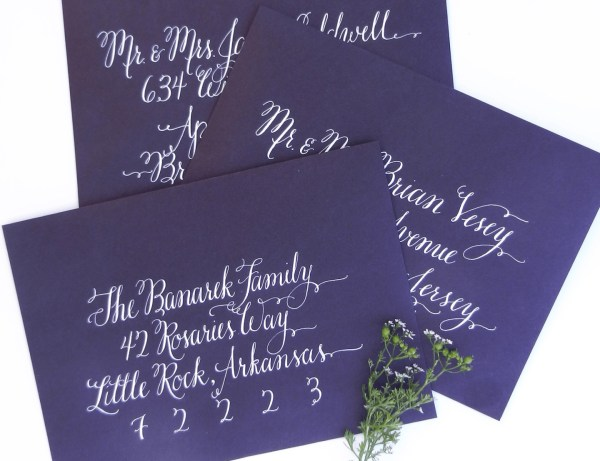 Flourish Formal Style Envelopes | The Postman's Knock