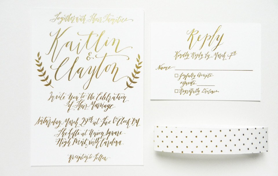 Foil-Stamped Wedding Invitations