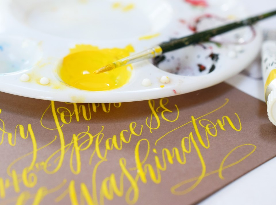 How to Use Gouache for Calligraphy