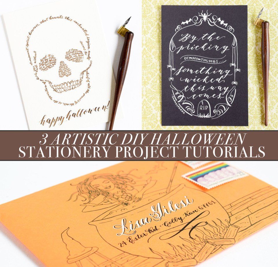 3 Artistic Diy Halloween Stationery Projects The Postmans Knock