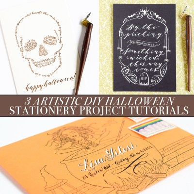 3 Artistic DIY Halloween Stationery Project Tutorials