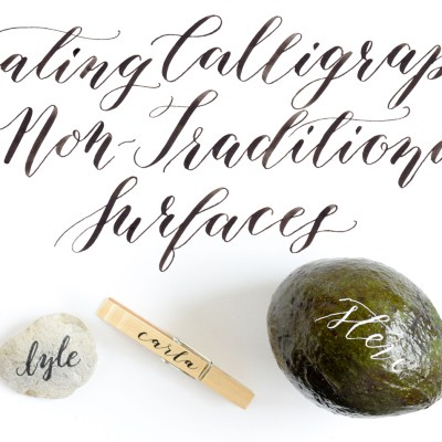 Creating Calligraphy on Non-Traditional Surfaces