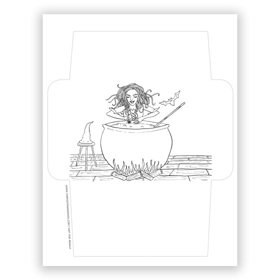 Witch-ed Awesome Printable Envelope Template | The Postman's Knock