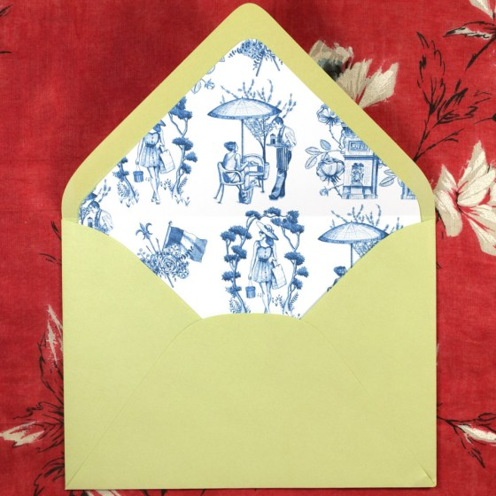 The tpile pattern makes a lovely envelope liner!