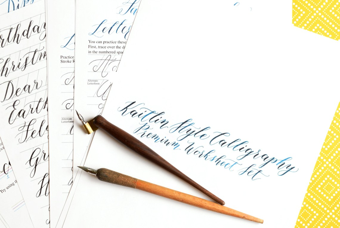 The New Kaitlin Style Calligraphy Worksheet is Here!   The Postman's Knock