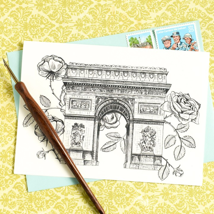 Parisian-Themed Printable Stationery Package | The Postman's Knock