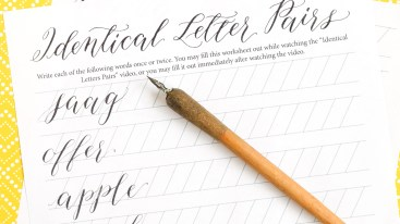 The Kaitlin Style Calligraphy Video Course is Here!   The Postman's Knock