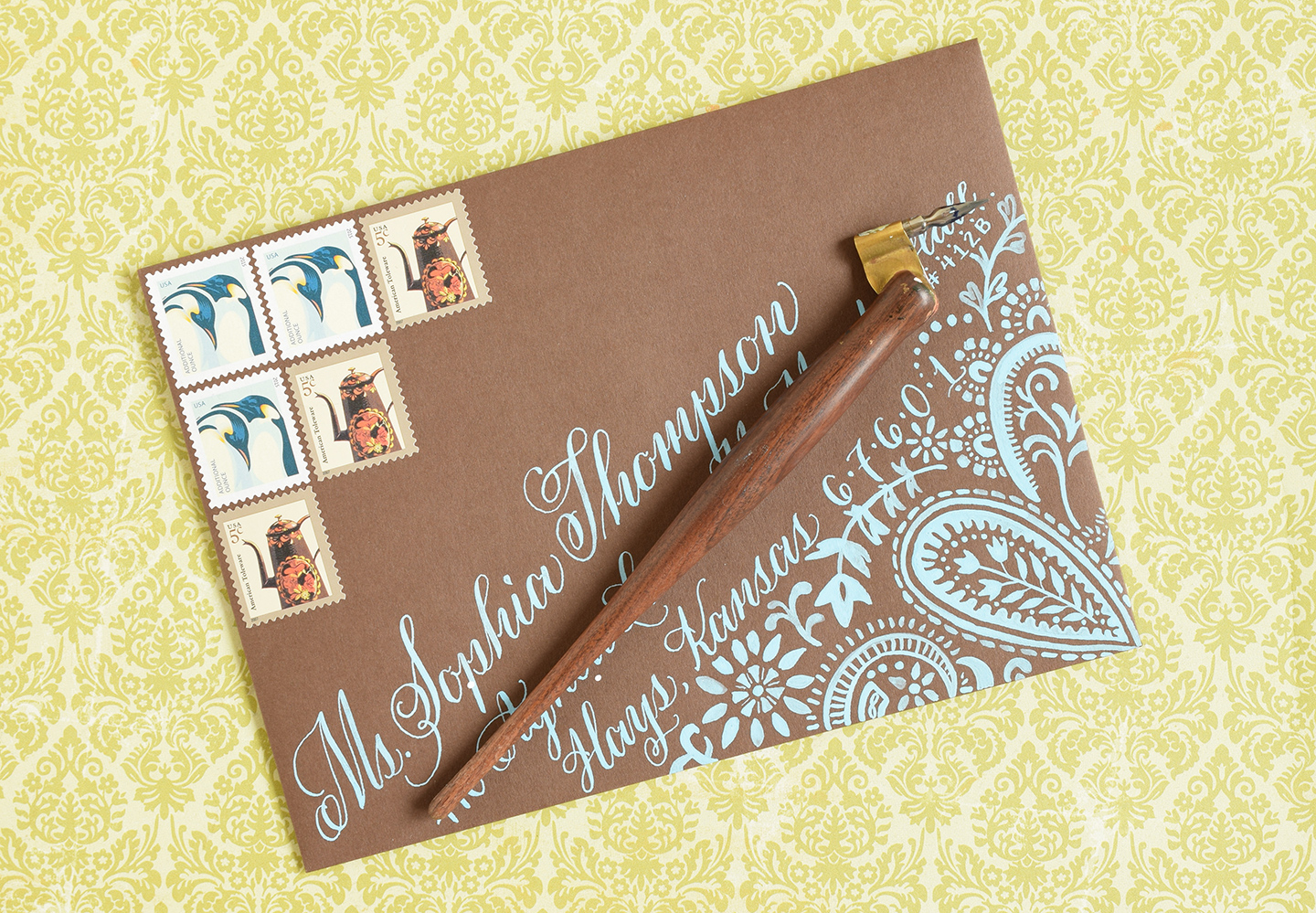 to Make DIY Envelope Liners | The Postman's Knock