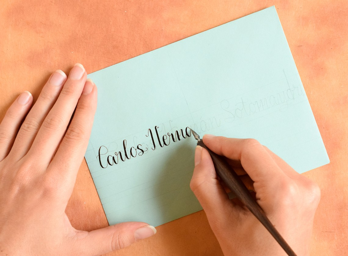 Envelope Calligraphy Spacing Tips and Techniques   The Postman's Knock