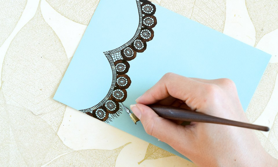 How to Draw Lace   The Postman's Knock