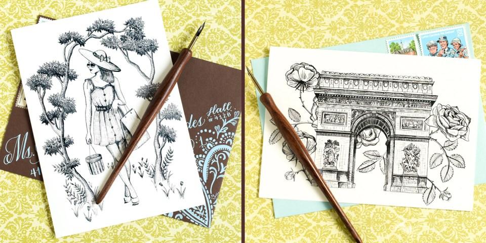 Printable Paris-Themed A7 Cards   The Postman's Knock