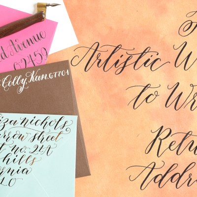Four Artistic Ways to Write a Return Address