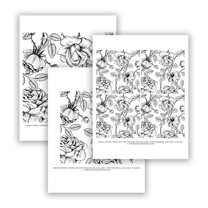 Vintage Roses Illustration Printable for Tracing/Collage | The Postman's Knock