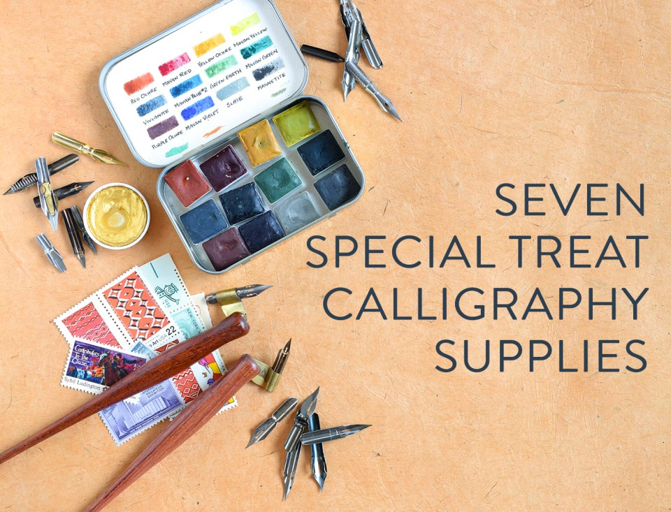 Seven quot special treat calligraphy supplies the postman s