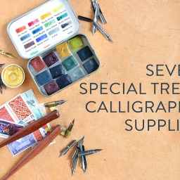 "Seven ""Special Treat"" Calligraphy Supplies 