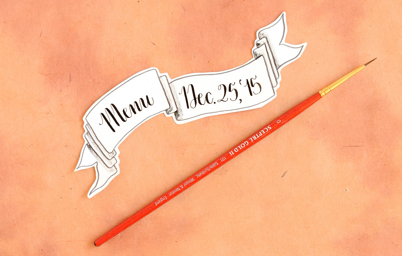 Calligraphed DIY Menu Cards Tutorial (Diagonal Concept) | The Postman's Knock