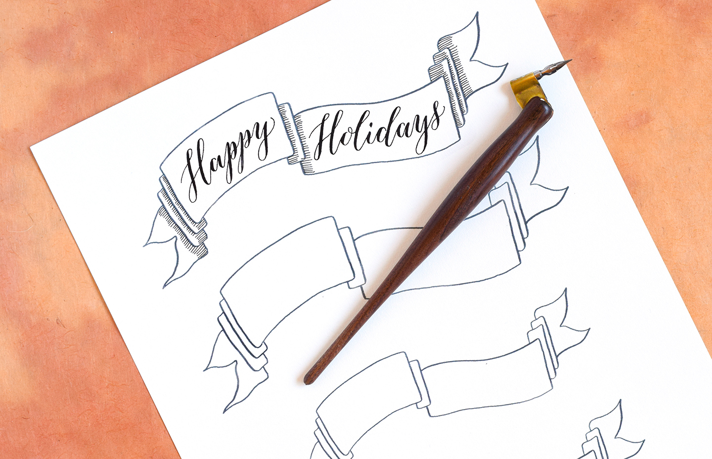 DIY Holiday Card + Artistic Envelope Tutorial | The Postman's Knock