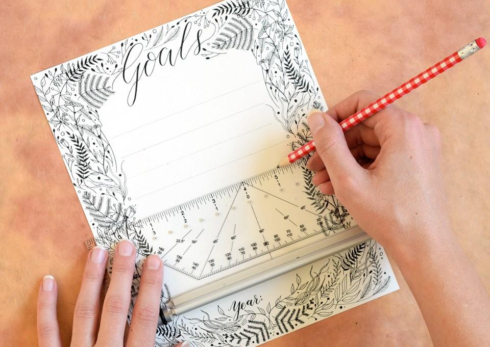 Printable Goal List with Botanical Border | The Postman's Knock