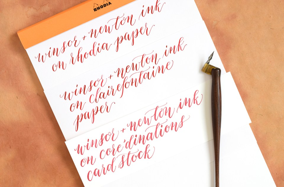 The Best Calligraphy Papers for Practice and Projects | The Postman's Knock