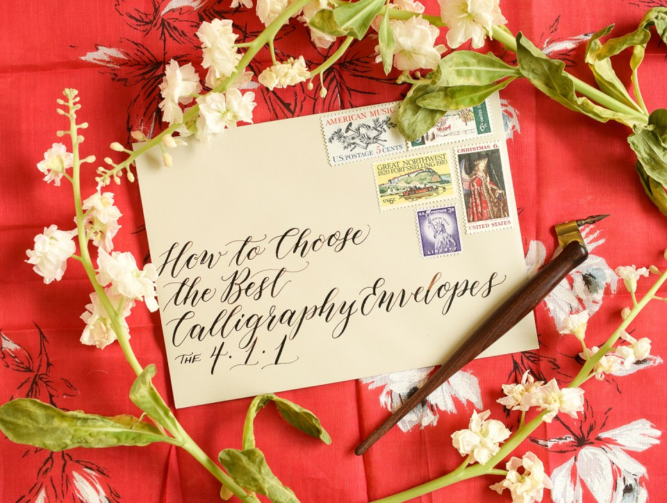 How to Choose the Best Calligraphy Envelopes | The Postman's Knock