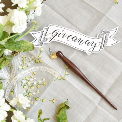 A Holiday Oblique Calligraphy Pen Giveaway!