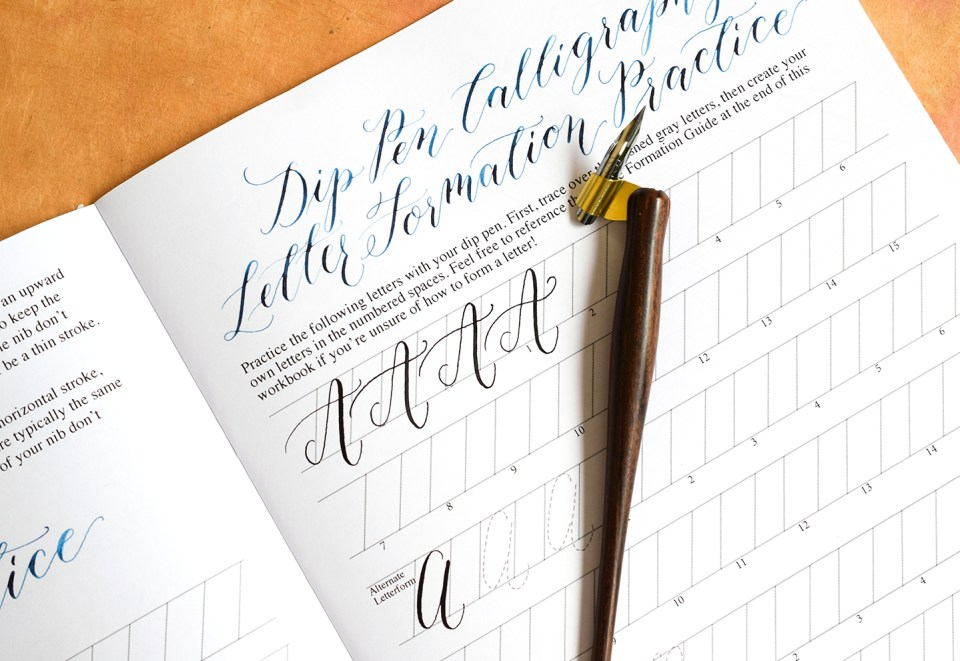 Scribblers edition kaitlin style calligraphy workbook
