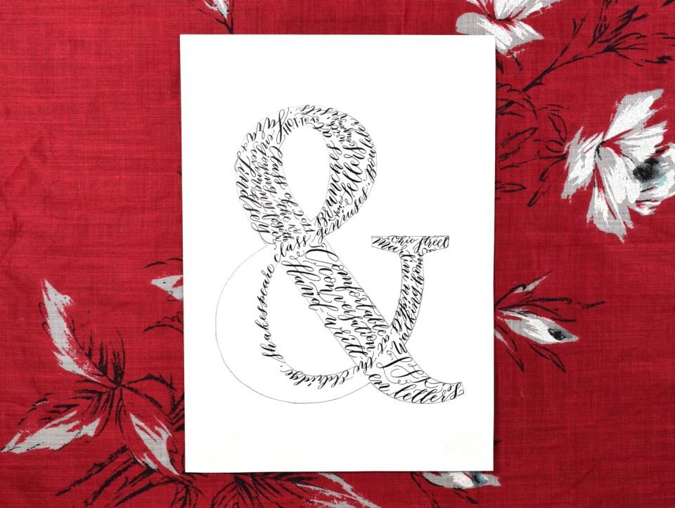Calligraphy Ampersand Art Tutorial