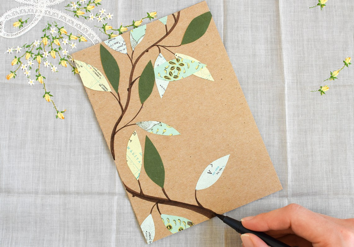 Leafy Homemade Birthday Card Tutorial | The Postman's Knock