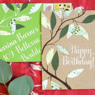 Leafy Homemade Birthday Card Tutorial