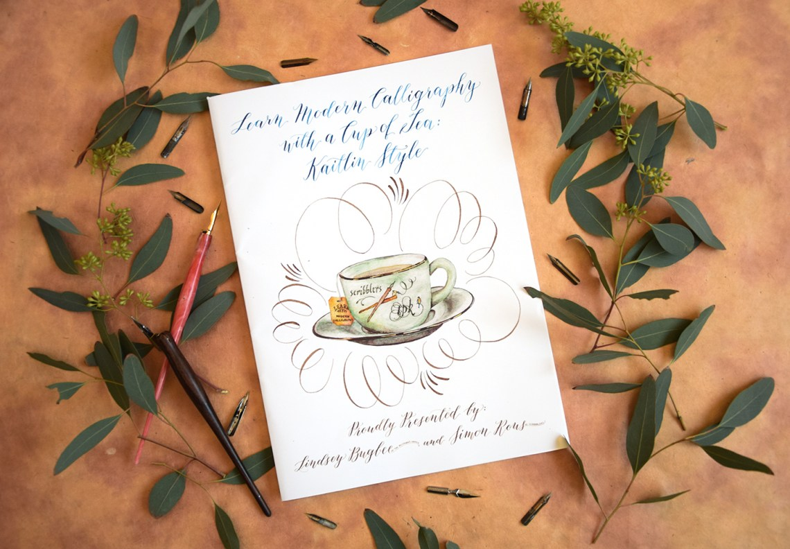 Scribblers Edition Kaitlin Style Calligraphy Workbook Giveaway   The Postman's Knock