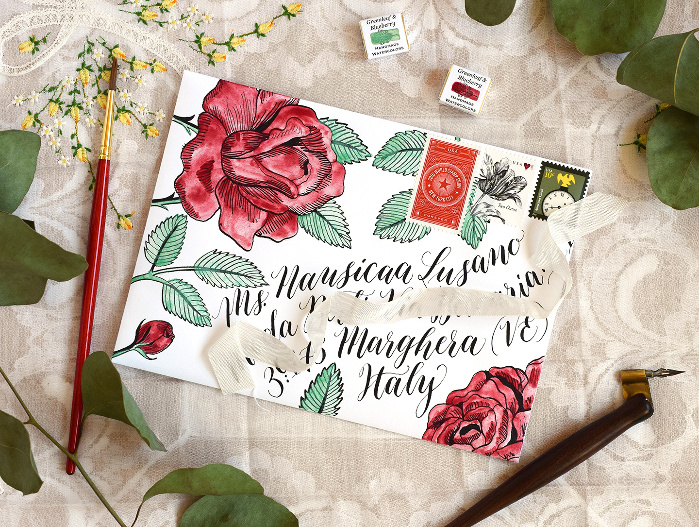 Decorated Envelope | The Postman's Knock