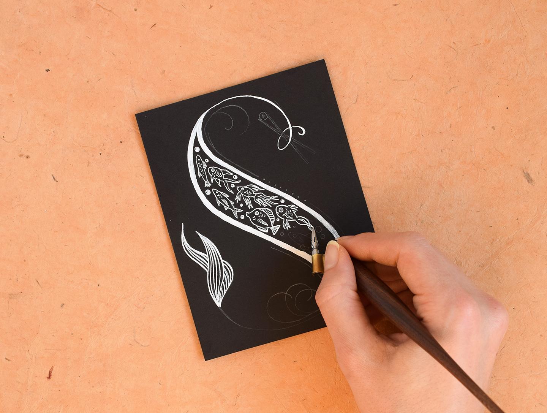 White Calligraphy Ink Showdown: Sumi, Ziller, & Pen White | The Postman's Knock