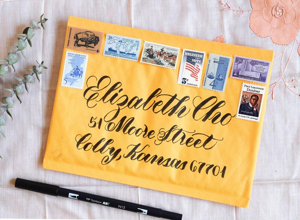 Address Written Using a Brush Pen | The Postman's Knock