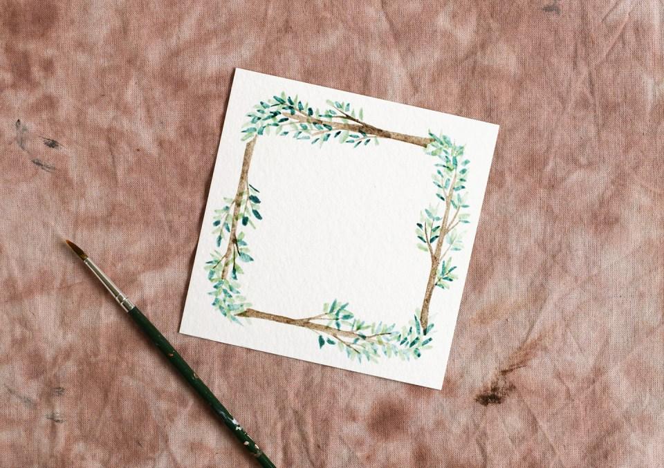 Woodland Watercolor Wreath Tutorials: Part I | The Postman's Knock