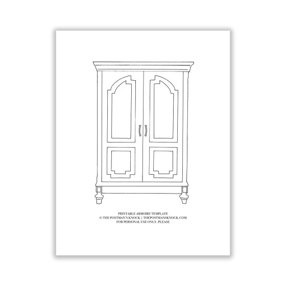 Printable Armoire Template | The Postman's Knock