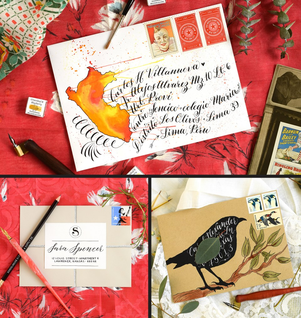 Three Decorated Envelopes Mini Tutorials | The Postman's Knock