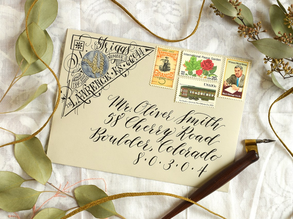 Artistic Return Address Tutorial | The Postman's Knock