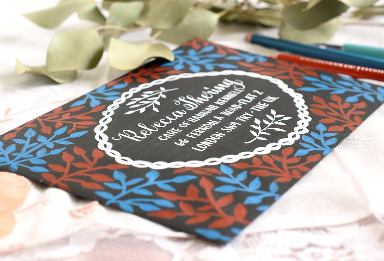 Laurel Branch Decorated Envelopes Tutorial | The Postman's Knock