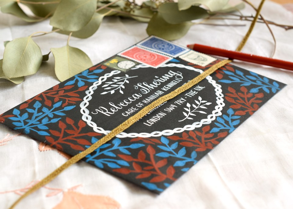 Laurel Branch Decorated Envelopes Tutorial | The Postman's Knock