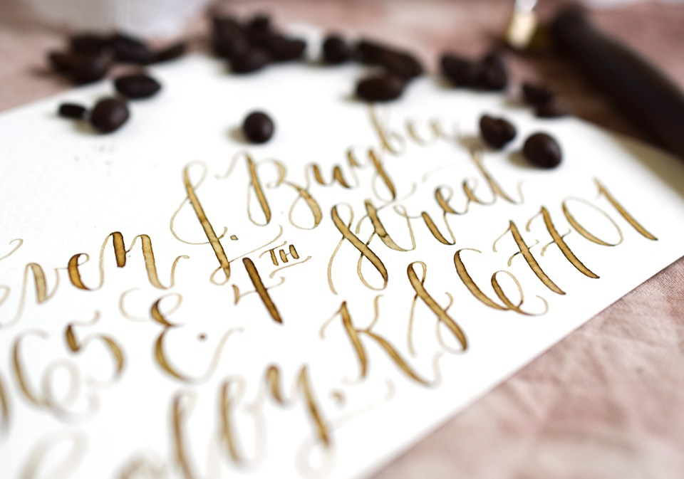Four Artistic Calligraphy Variations   The Postman's Knock
