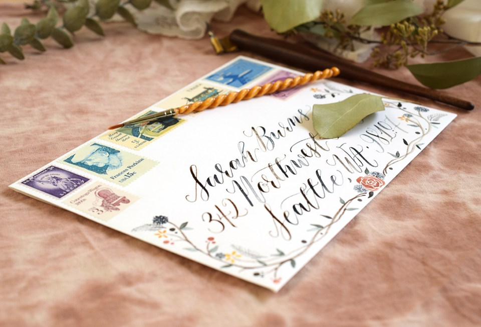 Watercolor Envelope | The Postman's Knock