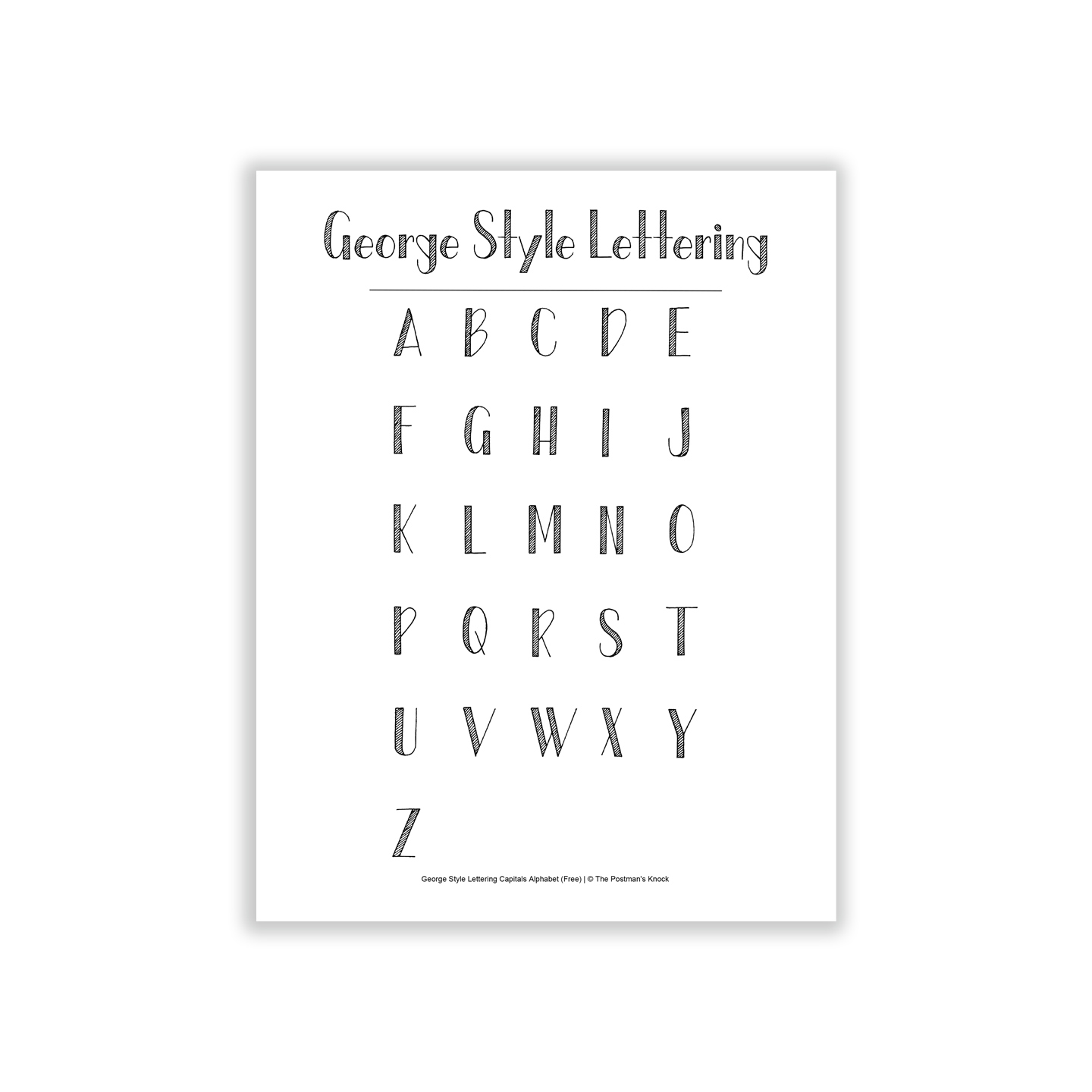 Free Basic Hand-Lettering Exemplar {George Style}
