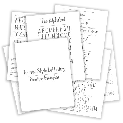 Printable Hand-Lettering Exemplar {George Style}   The Postman's Knock